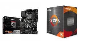 AMD RYZEN 5 5600X + MSI X570 A-PRO
